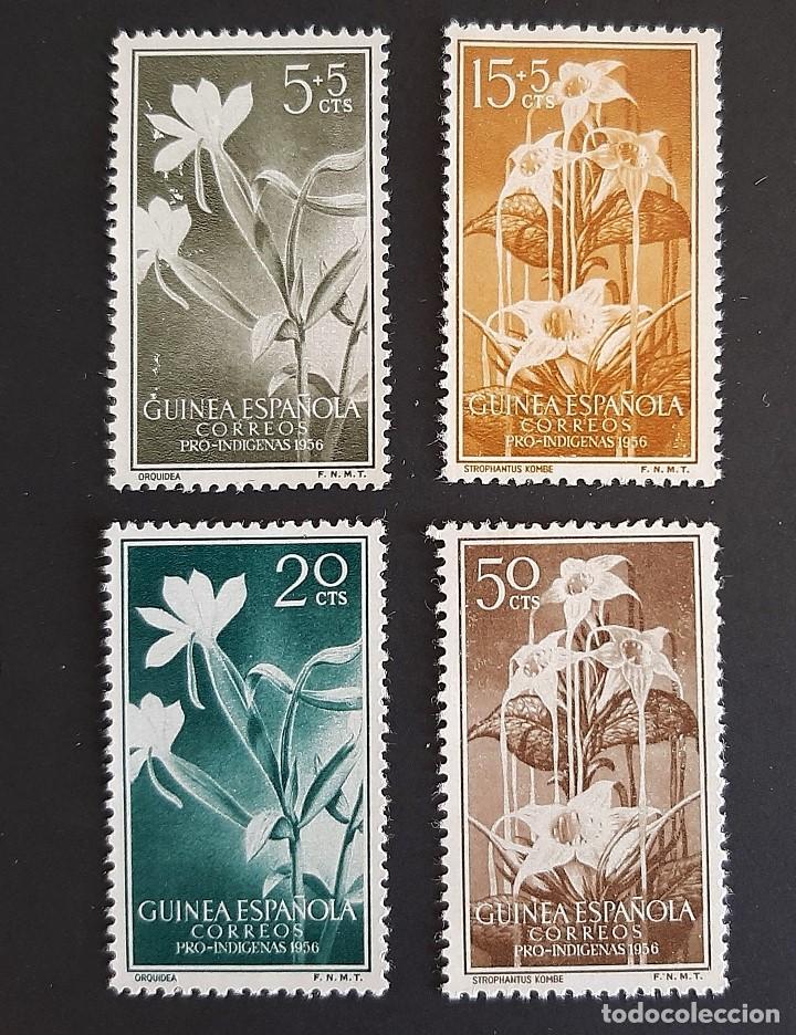 SELLOS GUINEA - 1956 - ED 358 A 361 - PRO INDIGENAS - /*/ NUEVO CON FIJASELLO (Sellos - España - Colonias Españolas y Dependencias - África - Guinea)