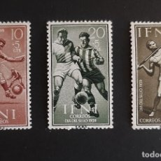 Sellos: SELLOS IFNI - 1959 - ED 156 A 158 - DIA DEL SELLO FUTBOL - /**/ NUEVOS. Lote 206478311