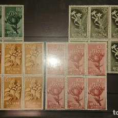Sellos: RIO MUNI 1960 , SERIE COMPLETA Nº 10-11-12-13 - EN BLOQUE DE 6 , NUEVOS. LEER DESCRIPCION. Lote 206597008