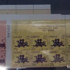 Sellos: RIO MUNI 1968 , SERIE COMPLETA Nº 83-84-85 - EN BLOQUE DE 8 , NUEVOS. LEER DESCRIPCION. Lote 206597012