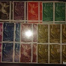 Sellos: SAHARA 1961 , SERIE COMPLETA Nº 180 AL 188 - EN BLOQUE DE 6 , NUEVOS. LEER DESCRIPCION. Lote 206597311