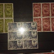 Sellos: GUINEA ESPAÑOLA 1956 , SERIE COMPLETA Nº 362-363-364 - EN BLOQUE DE 6 , NUEVOS. LEER DESCRIPCION. Lote 206597402