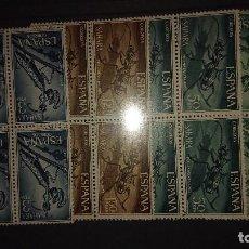 Sellos: SAHARA 1965 , SERIE COMPLETA Nº 242-243-244-245 - EN BLOQUE DE 4 , NUEVOS. LEER DESCRIPCION. Lote 206597485