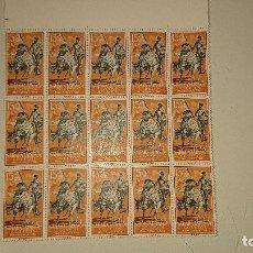 Sellos: SAHARA 1958 , 15 SELLOS EN BLOQUE Nº 152 , NUEVOS . LEER DESCRIPCION. Lote 206598933