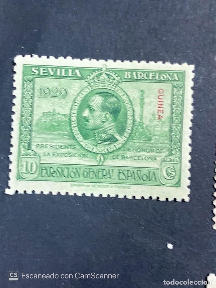 Sellos: EDIFIL 191/201. GUINEA ESPAÑOLA. EXPOSICION GENERAL ESPAÑOLA. SEVILLA-BARCELONA 1929. 1 CON CHARNELA - Foto 2 - 206777782