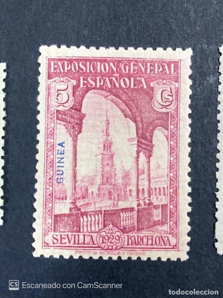 Sellos: EDIFIL 191/201. GUINEA ESPAÑOLA. EXPOSICION GENERAL ESPAÑOLA. SEVILLA-BARCELONA 1929. 1 CON CHARNELA - Foto 3 - 206777782
