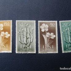 Selos: IFNI 1956, PRO INFANCIA, FLORA, EDIFIL 128/31. Lote 207804161