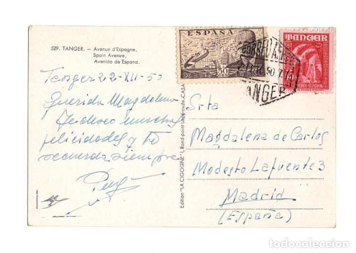 TANGER.- MATASELLOS HEXÁGONAL CORREO AÉREO. (Sellos - España - Colonias Españolas y Dependencias - África - África Occidental)