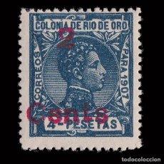 Sellos: RÍO DE ORO.1911-1913.ALFONSO XIII.HABILITADO.2C.S 4P.NUEVO*.EDIFIL.59. Lote 208926260