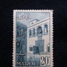 Sellos: MARRUECOS MAROC,20F, PATIO MAROCAINE, AÑO 1950.. Lote 208965183