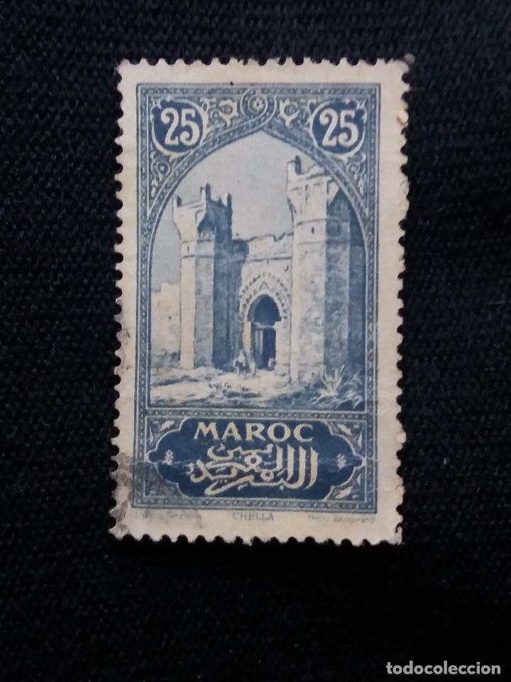 MARRUECOS MAROC,25C, CIUDAD CHELIA, AÑO 1923. (Sellos - España - Colonias Españolas y Dependencias - África - Marruecos)
