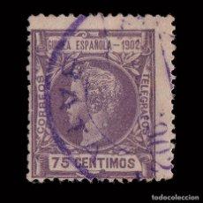 Sellos: GUINEA.1902.ALFONSO XIII.75C.MATASELLO BATA.EDIFIL 5. Lote 208996753