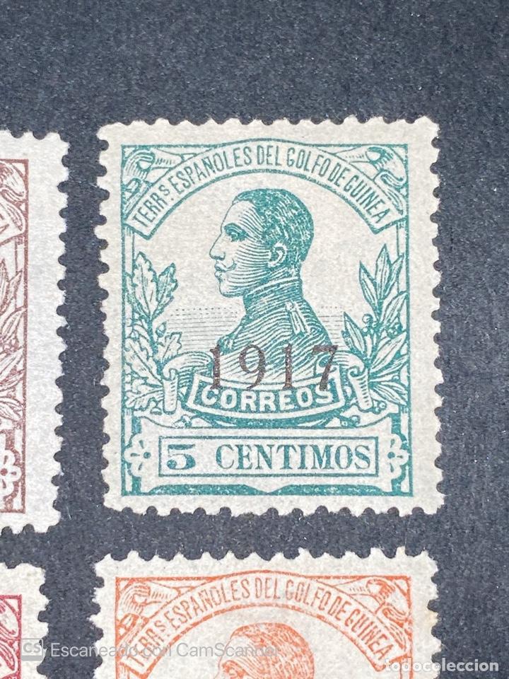 Sellos: GUINEA, 1917. ALFONSO XIII. HABILITADOS. EDIFIL 111-123. COMPLETA. NUEVOS. GOMA. SEÑAL FIJASELLOS. - Foto 4 - 209674196
