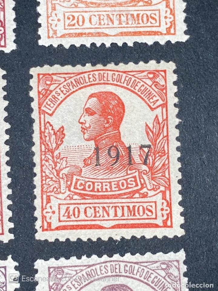 Sellos: GUINEA, 1917. ALFONSO XIII. HABILITADOS. EDIFIL 111-123. COMPLETA. NUEVOS. GOMA. SEÑAL FIJASELLOS. - Foto 10 - 209674196