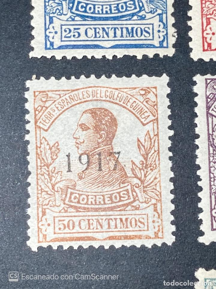 Sellos: GUINEA, 1917. ALFONSO XIII. HABILITADOS. EDIFIL 111-123. COMPLETA. NUEVOS. GOMA. SEÑAL FIJASELLOS. - Foto 11 - 209674196