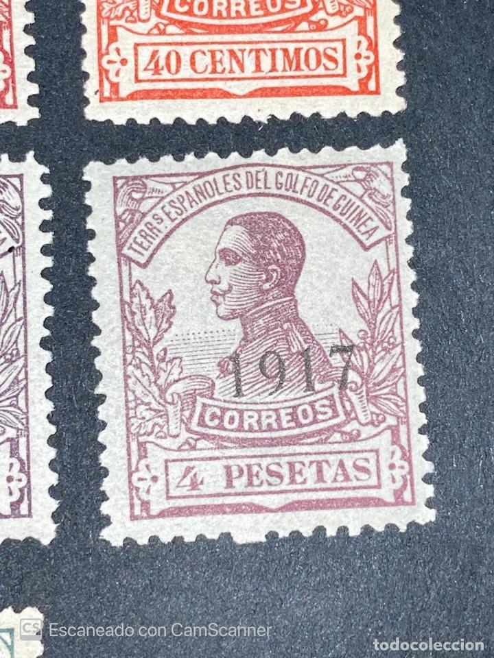 Sellos: GUINEA, 1917. ALFONSO XIII. HABILITADOS. EDIFIL 111-123. COMPLETA. NUEVOS. GOMA. SEÑAL FIJASELLOS. - Foto 13 - 209674196