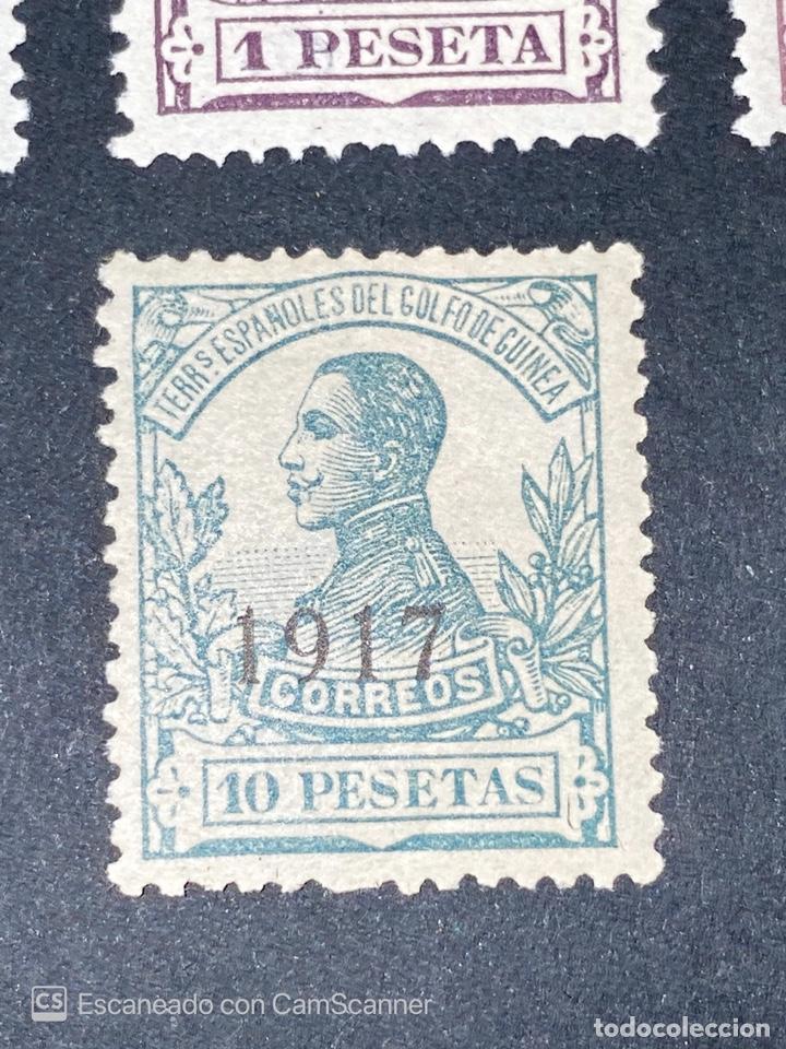 Sellos: GUINEA, 1917. ALFONSO XIII. HABILITADOS. EDIFIL 111-123. COMPLETA. NUEVOS. GOMA. SEÑAL FIJASELLOS. - Foto 14 - 209674196