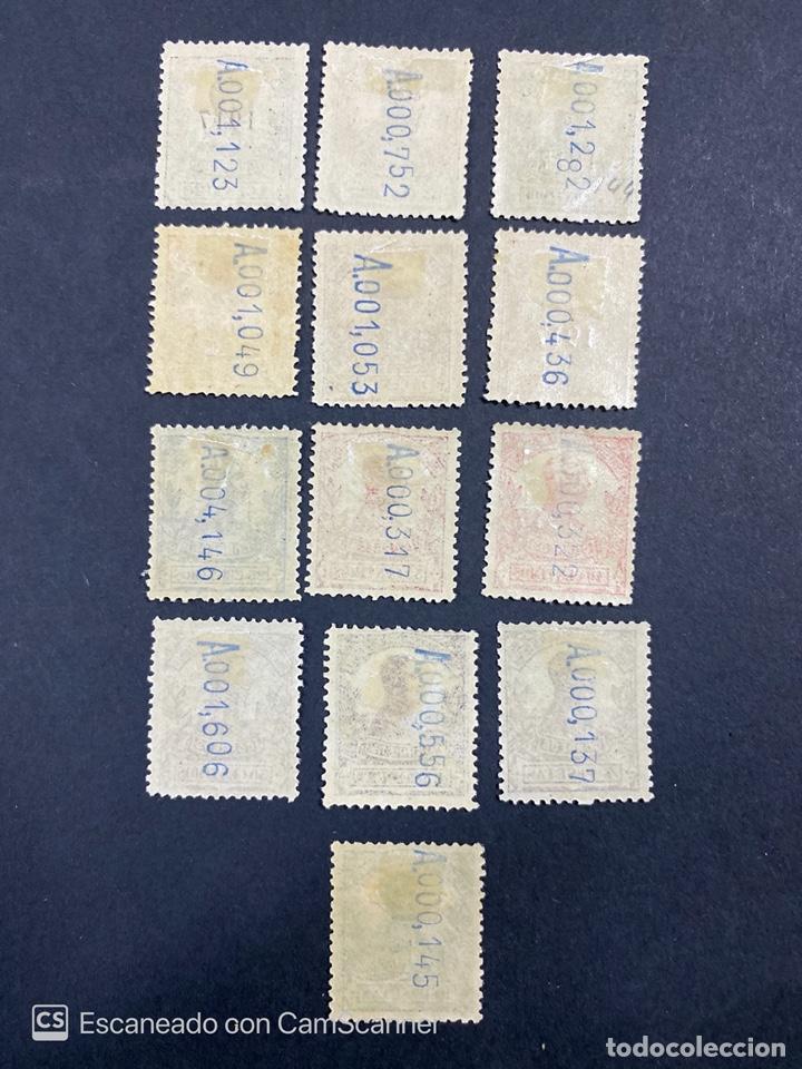 Sellos: GUINEA, 1917. ALFONSO XIII. HABILITADOS. EDIFIL 111-123. COMPLETA. NUEVOS. GOMA. SEÑAL FIJASELLOS. - Foto 15 - 209674196