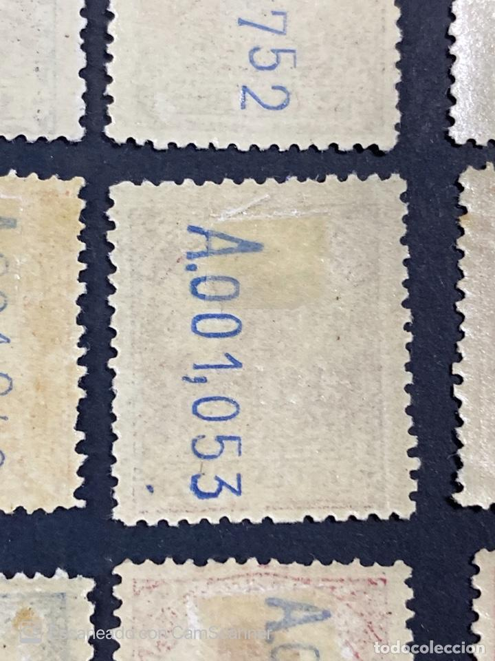 Sellos: GUINEA, 1917. ALFONSO XIII. HABILITADOS. EDIFIL 111-123. COMPLETA. NUEVOS. GOMA. SEÑAL FIJASELLOS. - Foto 20 - 209674196