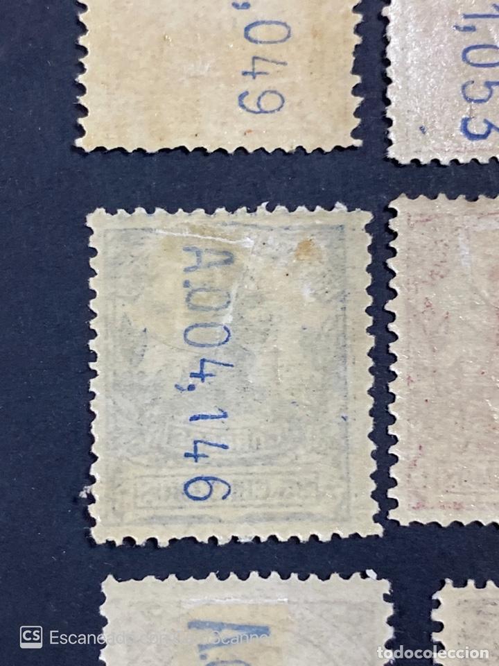 Sellos: GUINEA, 1917. ALFONSO XIII. HABILITADOS. EDIFIL 111-123. COMPLETA. NUEVOS. GOMA. SEÑAL FIJASELLOS. - Foto 22 - 209674196