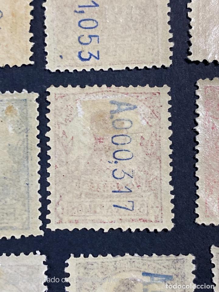 Sellos: GUINEA, 1917. ALFONSO XIII. HABILITADOS. EDIFIL 111-123. COMPLETA. NUEVOS. GOMA. SEÑAL FIJASELLOS. - Foto 23 - 209674196
