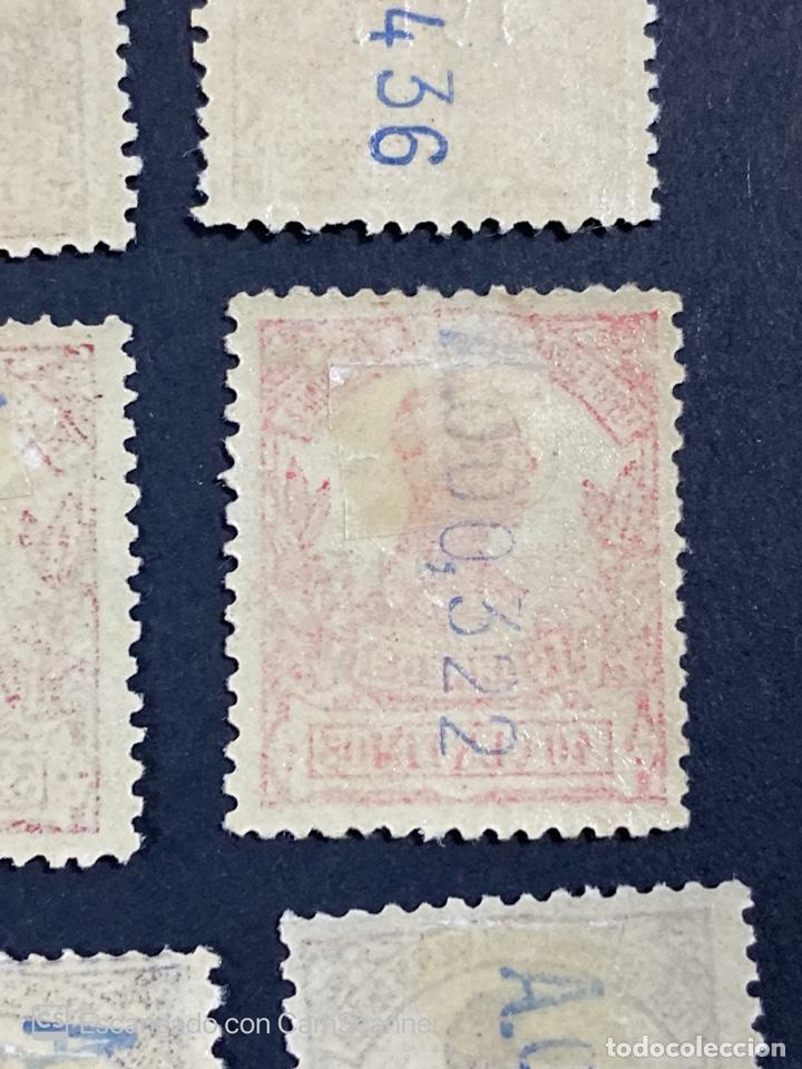 Sellos: GUINEA, 1917. ALFONSO XIII. HABILITADOS. EDIFIL 111-123. COMPLETA. NUEVOS. GOMA. SEÑAL FIJASELLOS. - Foto 24 - 209674196