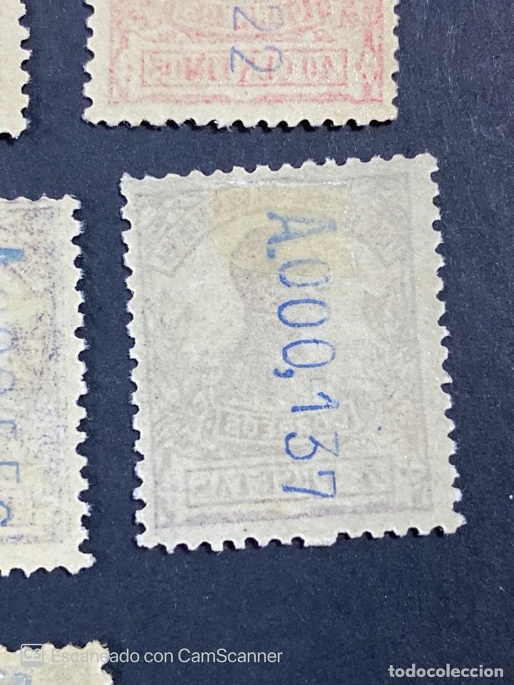 Sellos: GUINEA, 1917. ALFONSO XIII. HABILITADOS. EDIFIL 111-123. COMPLETA. NUEVOS. GOMA. SEÑAL FIJASELLOS. - Foto 27 - 209674196