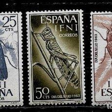 Sellos: COLONIAS ESPAÑOLAS -IFNI - EDIFIL 200-202 - 1964 - NUEVOS SIN FIJASELLOS. Lote 263047910