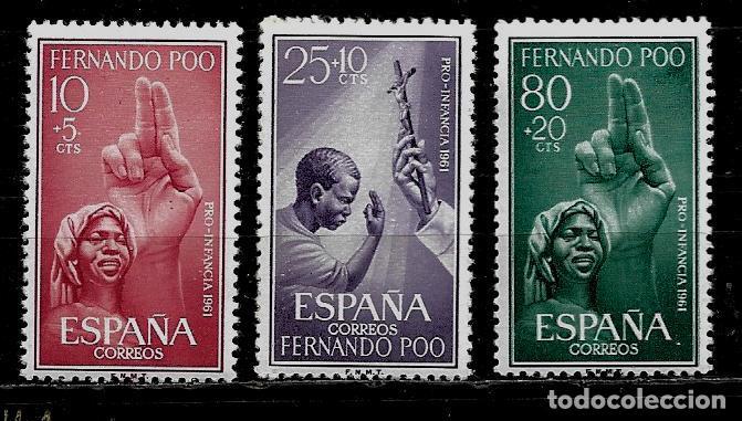 FERNANDO POO - PRO-INFANCIA 1961 - EDIFIL 196-98 - - NUEVOS. (Sellos - España - Colonias Españolas y Dependencias - África - Fernando Poo)