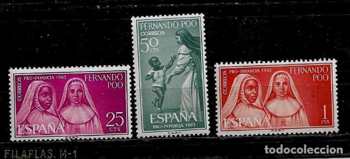 FERNANDO POO - PRO-INFANCIA 1963- EDIFIL 115-17-- NUEVOS. (Sellos - España - Colonias Españolas y Dependencias - África - Fernando Poo)