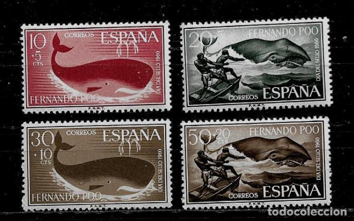 FERNANDO POO - DIA DEL SELLO 1960 - EDIFIL 192-95 - NUEVOS. (Sellos - España - Colonias Españolas y Dependencias - África - Fernando Poo)