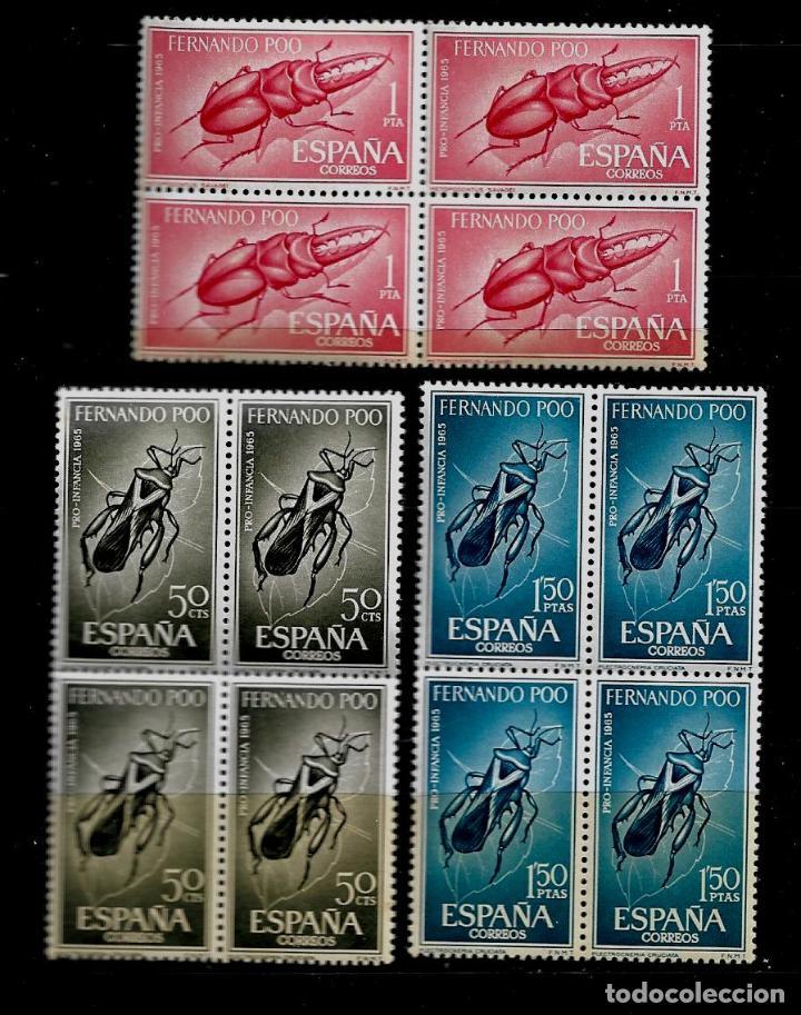 FERNANDO POO - PRO-INFANCIA 1965 - EDIFIL 242-44 - BLOQUE DE CUATRO - NUEVOS. (Sellos - España - Colonias Españolas y Dependencias - África - Fernando Poo)