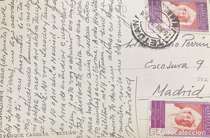 MARRUECOS, TARJETA POSTAL CIRCULADA EN EL AÑO1956 (Sellos - España - Colonias Españolas y Dependencias - África - Marruecos)