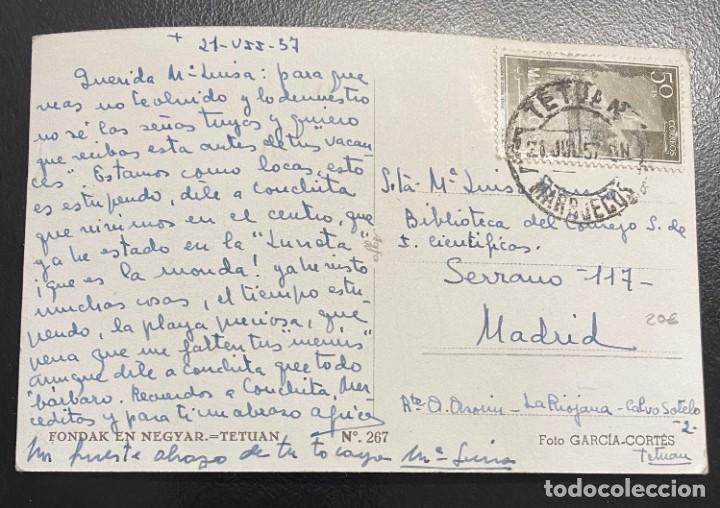 MARRUECOS, TARJETA POSTAL CIRCULADA EN EL AÑO 1957 (Sellos - España - Colonias Españolas y Dependencias - África - Marruecos)