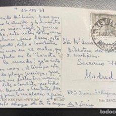 Sellos: MARRUECOS, TARJETA POSTAL CIRCULADA EN EL AÑO 1957. Lote 210275300