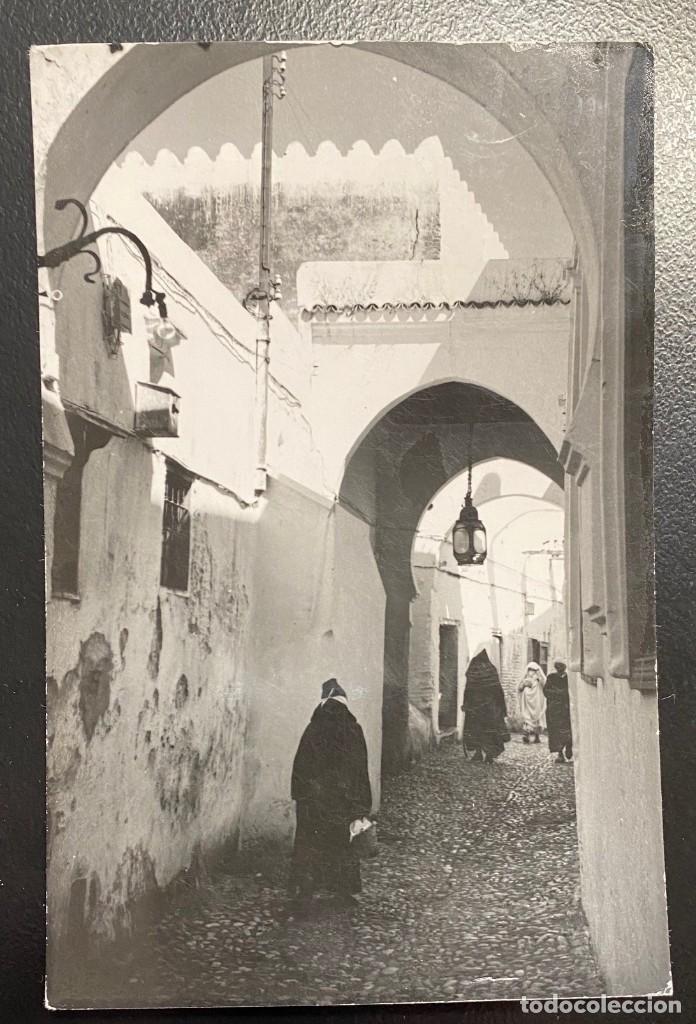 Sellos: MARRUECOS, TARJETA POSTAL CIRCULADA EN EL AÑO 1957 - Foto 2 - 210275300