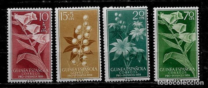 GUINEA ESPAÑOLA - PRO INFANCIA 1959 - EDIFIL 391-394 - NUEVOS. (Sellos - España - Colonias Españolas y Dependencias - África - Guinea)