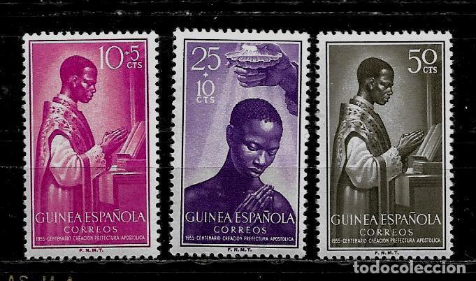 GUINEA ESPAÑOLA - CENT. DE LA PREFECTURA APOSTOLICA - EDIFIL 344-346 - NUEVOS. (Sellos - España - Colonias Españolas y Dependencias - África - Guinea)