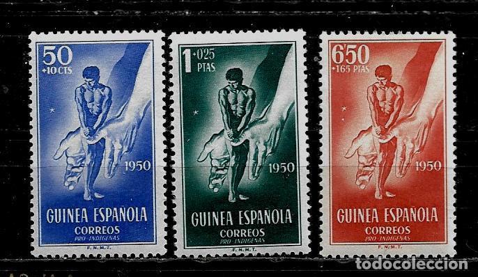 GUINEA ESPAÑOLA - PRO INDIGENAS - EDIFIL 295-97 - 1950 - NUEVOS. (Sellos - España - Colonias Españolas y Dependencias - África - Guinea)