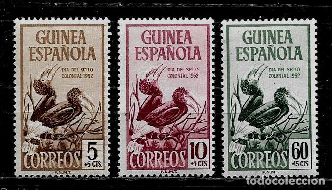 GUINEA ESPAÑOLA - DIA DEL SELLO - EDIFIL 3318-20 - 1952 NUEVOS. (Sellos - España - Colonias Españolas y Dependencias - África - Guinea)