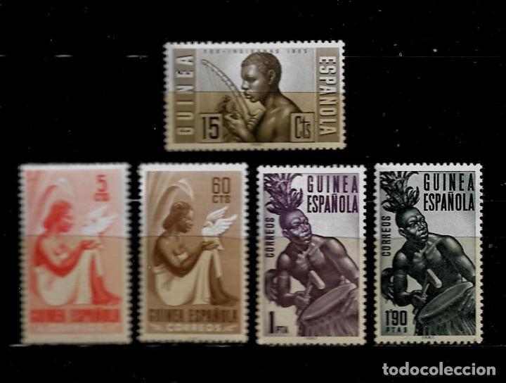 GUINEA ESPAÑOLA - TIPOS INDIGENAS - 1953 - EDIFIL 344-346 - NUEVOS. (Sellos - España - Colonias Españolas y Dependencias - África - Guinea)