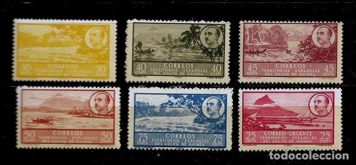 GUINEA - PAISAJES Y FRANCO - EDIFIL 282 AL 286 Y 293 - 1949-50 - NUEVOS (Sellos - España - Colonias Españolas y Dependencias - África - Guinea)