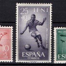 Sellos: IFNI 176/78* - AÑO 1961 - PRO INFANCIA - DEPORTES - FUTBOL - ATLETISMO. Lote 210780306
