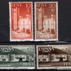 Sellos: IFNI 172/75* - AÑO 1960 - DIA DEL SELLO - IGLESIA DE SANTA MARIA DEL MAR. Lote 210781499