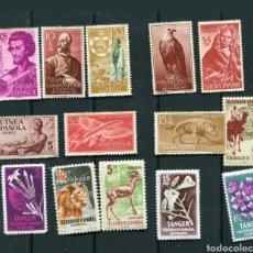 Sellos: LOTE 14 SELLOS COLONIAS ESPAÑOLAS (SAHARA, GUINEA, TANGER..). Lote 210803917