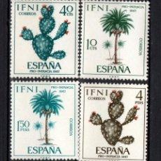 Sellos: IFNI 225/28* - AÑO 1967 - PRO INFANCIA - FLORA. Lote 210950806