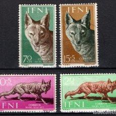 Sellos: IFNI 138/41* - AÑO 1957 - PRO INFANCIA - FLORA. Lote 210951231
