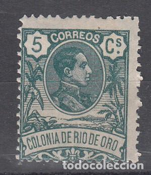 RIO DE ORO. EDIFIL 43 NUEVO CON FIJASELLOS. (Sellos - España - Colonias Españolas y Dependencias - África - Río de Oro)