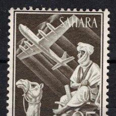 Sellos: SAHARA 189* - AÑO 1961 - INDIGENA Y AVION. Lote 211981103
