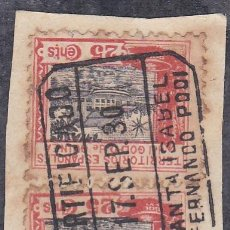 Sellos: GUINEA.- FRAGMENTO CON PAREJA DE SELLOS Nº 171 CON MATASELLOS FERNANODO POO CERTIFICADO. Lote 212239622